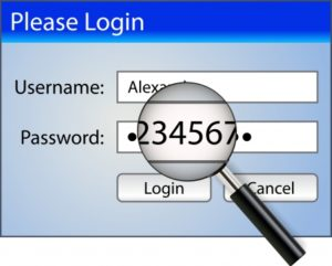 Example of a weak password